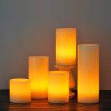 Bougie électronique sans flammes du pilier DEL pour la décoration et l'usager à la maison