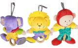 新しいデザインは赤ん坊音楽引き動物のおもちゃを詰めた