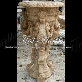 Piantatrice di pietra di marmo MP-260 del calcio dell'oggetto d'antiquariato della piantatrice del granito