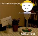 Touch Sensor Espantapájaros LED Nocturno Noche con Batería LED Mesa Lámpara de Escritorio