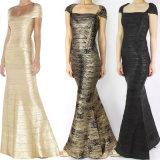 Heißes stempelndes elegantes langes Kleid