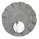 Wellen-Polyester 100% gesponnene Matte für Tischplatte
