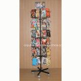 Металл пола стоящий вращаясь стеллаж для выставки товаров DVD (PHY257)