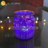 Tarro de cristal decorativo modificado para requisitos particulares venta al por mayor de la vela de la alta calidad