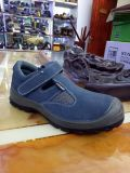 Sicherheits-Schuh-Sicherheits-Sandelholz PU-Outsole bereift Stahlkappe-Schuhe