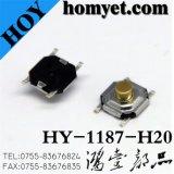 4*4*2mm 둥근 단추 4pin (HY-1187-H20)를 가진 SMD 재치 스위치