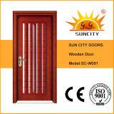 Porte en bois simple intérieure bon marché