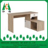 Mesa de madeira do computador do estudo da HOME/escritório do painel moderno com prateleiras