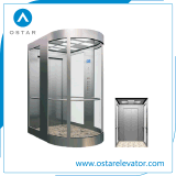가득 차있는 관광 유리로 요하는 작은 선적 관측 엘리베이터