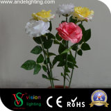 Indicatori luminosi dei fiori artificiali del LED Rosa