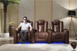 Modelo casero 929 del sofá del cuero del Recliner de los muebles