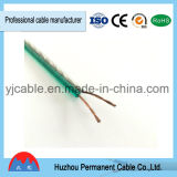 Câble de fil gris et vert créateur de haut-parleur de fil de haut-parleur