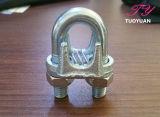 Type malléable de Galv un clip de fil de clip de câble métallique