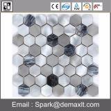 混合されたカラーアルミニウム金属のモザイク
