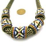 Dikke Ketting van de Halsband van de Stijl van het Borduurwerk van de ketting Retro in anti-Goud