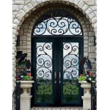 ガラスが付いている鉄の前ドア