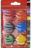 Торт сформировал Crayon установленный для детей рисуя /Painting