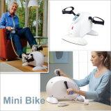 A melhor bicicleta de exercício interna portátil da aptidão, mini pedal para o ciclo do corpo superior e mais baixo