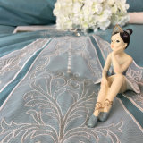 Lace 6OSジュリアの王女の汚れの綿の寝具セット