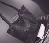 Sacs à provisions de réseau de coton de loisirs de mode et sacs d'emballage de maille (FLY-NBD811)