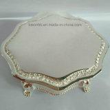 明確なBrithdayのギフトの宝石箱、結婚祝いのためのスライバ金属の宝石箱