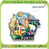 Les aimants de réfrigérateur de PVC de mode ont personnalisé les cadeaux promotionnels avec le coq du Portugal du modèle 3D (RC-PL)