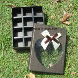 La sucrerie à extrémité élevé de carton enferme dans une boîte la boîte de papier à chocolat avec des diviseurs