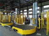 統合されたローラーコンベヤーおよびパレット包む機械