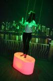Banquete de casamento Disco Bateria carregável LED Oval Laser Dance Floor