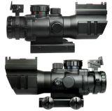 El alcance prismático superior del rifle de 4X32 RGB con vista óptica de fibra Tri-Iluminó