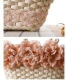 Sacs normaux de paille de la mode 2016 d'été avec la fleur