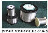 La resistencia eléctrica de calefacción actual alambre calentador de alambre Cr23al5 Cr21al6 Cr19al3
