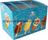 190L/210L/260L/320L Curved Glass Door Ice Cream Chest Freezer