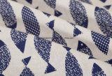 tela de la impresión de 55%Linen 45%Cotton para la falda de la alineada
