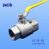Válvula de bola DIN hembra 2PC con el certificado CE
