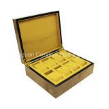 Caixa de empacotamento do relógio de madeira dos entalhes do luxo 8 da caixa de relógio de forma