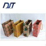 Bolsas de papel impresas insignia de encargo con la bolsa de papel de las manetas al por mayor