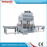 Shortcycle Hot Press Machine 또는 Automatic Loading 및 Unloading Hot Press