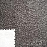 Tissu de cuir de polyester de somme de suède avec le traitement gravé en relief