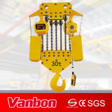 30t Fixed Type Electric Chain Hoist con Hook