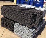 Type noir australien poste en acier de frontière de sécurité (1650mm, 1800mm) du bitume Y