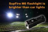再充電可能なLEDの照明懐中電燈(M6)をハンチングを起す高い発電
