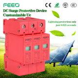 Dispositivo protector de 1000V 3p de la oleada de protección del dispositivo de la oleada fotovoltaica de la C.C.