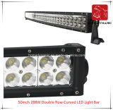 도로 빛과 LED 모는 빛 떨어져 SUV 차 LED를 위해 방수 50inch 288W 두 배 줄에 의하여 구부려지는 LED 표시등 막대의 LED 차 빛