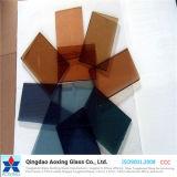 Il colore tinto indurito/ha temperato il vetro riflettente per il vetro della costruzione