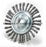 Escova Twisted da roda do fio do nó para moedores do banco