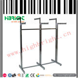 Six dobrável Arms Garment Rack para Clothing Shop