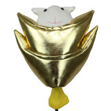 Driverのための光沢Golden Golf Animal Headcover
