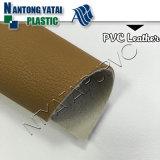 Cuoio del PVC del tessuto del sofà impresso alta qualità con la parte posteriore del Nonwoven