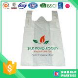 식료품류를 위한 튼튼한 t-셔츠 쇼핑 백